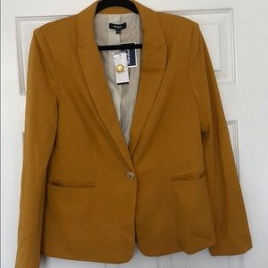 Premise Studio Gold/Mustard Blazer Jacket